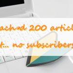 【初心者用】200記事書いたブログでアクセス数が伸びないときにすべきこと